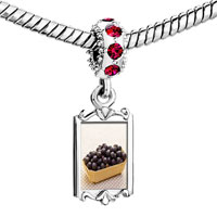 Charms Beads - red crystal dangle anti cancer superfruits acai berries Image.