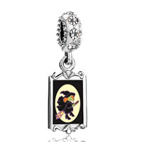 Clear Crystal Dangle Flying Witch
