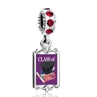 Charms Beads - red crystal dangle graduation class  2013 Image.