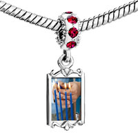 Charms Beads - red crystal dangle blue hanukkah cles Image.
