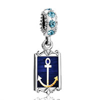 Aquamarine Crystal Dangle Anchor Symbol