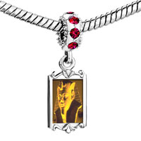 Charms Beads - red crystal dangle egyptian great sphinx Image.