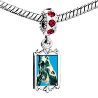 Charms Beads - red crystal dangle giraffe tongue Image.