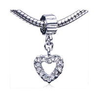 Heart Fit All Brands Dangle European Beads Charms Bracelets