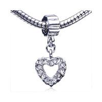 Heart Fit All Brands Dangle European Beads Charms Bracelets