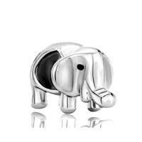 Silver Plated Elephant Charm Bracelet European Bead Charms Bracelet