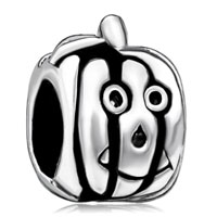 Happy Halloween Pumpkin Face Jackolantern Halloween Beads Charms