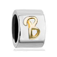 Cylindrical Shaped Letter Charms Initial B Alphabet Alphabet Beads