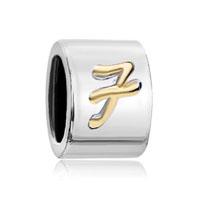 Letter Bracelet Charms Initial F Alphabet Alphabet European Bead