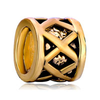 Silver Golden Filigree European Infant Charm Bead Charms Bracelets