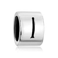 Silver Letter Bracelet Charm Initial I Charm Alphabet European Bead