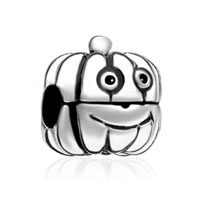 Silver Cartoon Jackolantern Halloween Pumpkin Guy Clip Lock Stopper