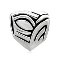 Silver European Bead Austrian Heart Charm Bracelet European Bead
