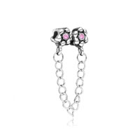 Silver European Bead Dangle Link Charms For Bracelets European Bead
