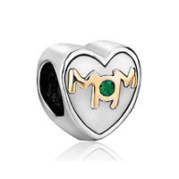 Mom Charms Swarovski Elements Heart