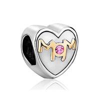 Swarovski Elements Heart Mom Charms