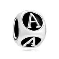 Dice Shaped Letter Bracelet Charms Initial A Charm Alphabet Beads