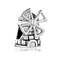 Silver Plated Netherlands Windmill European Bead Charms Bracelets