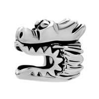 Silver Plated European Bead Charm Bracelets Chinese Dragon European