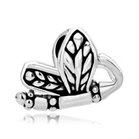 Silver P Dragonfly Infant For Beads Charms Bracelets Fit All Brands