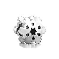 Silver Plated Snowflake European Bead Charm Infant Charm Bracelets