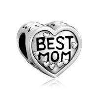 Best Mom And For Necklaces Love Mother Daughter Heart Beads Charms Bracelets Fit All Brands