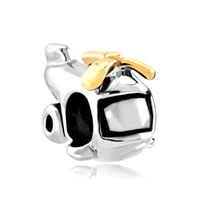 Silver Plated Cartoon Helicopter European Bead Charms Bracelets