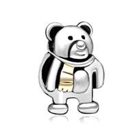 Funny Teddy Care Bear Charm Bracelet Heart Forever Love Charm Bead