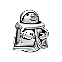 Silver European Infant Charm Bead Charms Bracelets Snowman Pattern