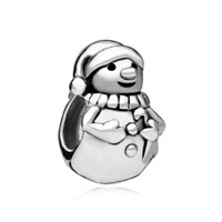 For Snowman Beads Charms Bracelets Fit All Brands