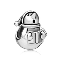 Silver Snowman And Book European Infant Charm Bead Charms Bracelets