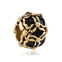 Beads Charms Bracelets Golden And Black Beads Charms Bracelets