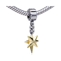Golden Star Fit All Brands Dangle European Beads Charms Bracelets