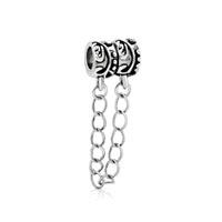 Delicat Charm Bracelete Floral European Bead Charm Safty Chain Lock