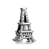 Silver Plated Paris Eiffel Tower European Bead Charms Bracelets