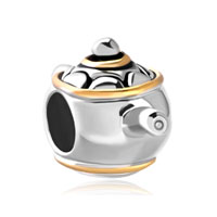 Silver Plated Teapot European Bead Charms Infant Charms Bracelets