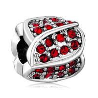 January Birthstone Floral European Bead Charms Charms Bracelets Bud