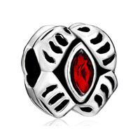 Birthstone Charms Red Crystal Celebrations Beads Charm Jewelry