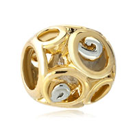 Filigree Vintage Antique Golden European Bead Charms Bracelets