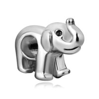Silver Cute Elephant Charm Bracelet European Infant Charm Bead