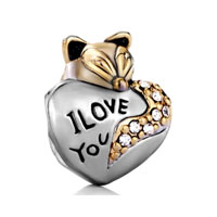 Cute Fox I Love You Beads Charms Bracelets Beads Charms Bracelets