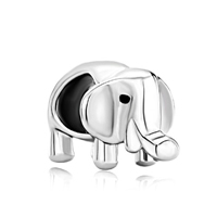 925 Sterling Silver Lovely Elephant Jewelry Fit Beads Charms Bracelets All Brands