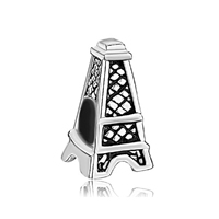 Eiffel Tower 925 Sterling Jewelry Fit Beads Charms Bracelets All Brands