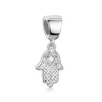 925 Sterling Hamsa Hamesh Hand Fits Bracele Dangle European Beads Fit All Brands Charms Bracelets