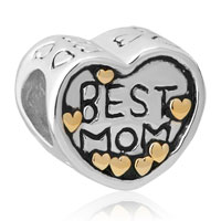 Mom Charms Heart Sterling Silver