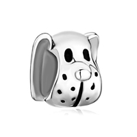 925 Silver Cute Puppy Dog Animal Fit Beads Charms Bracelets All Brands