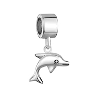925 Sterling Silver Animal Dolphin Dangle Fits Beads Charms Bracelets Fit All Brands
