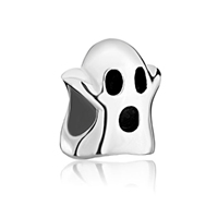 925 Sterling Silver Cute Ghost Jewelry Hallowmas Fits Beads Charms Bracelets Fit All Brands