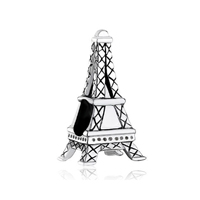 925 Sterling Silver Eiffel Tower Fits Beads Charms Bracelets Fit All Brands