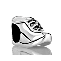 925 Sterling Silver Sports Shoes Jewelry Gift Fits Beads Charms Bracelets Fit All Brands